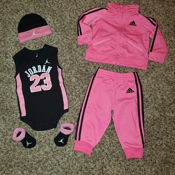 Baby Girl Adidas And Michael Jordan